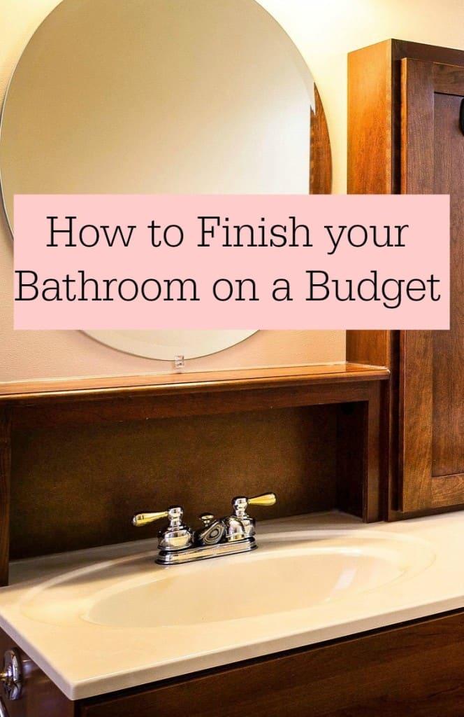 bathroom on a budget