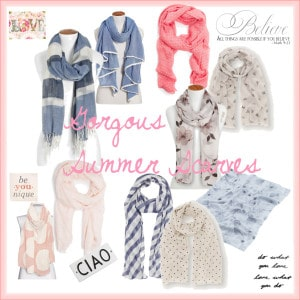 Gorgeous summer scarves