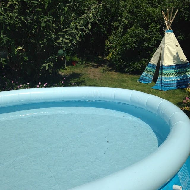 pool and tipi