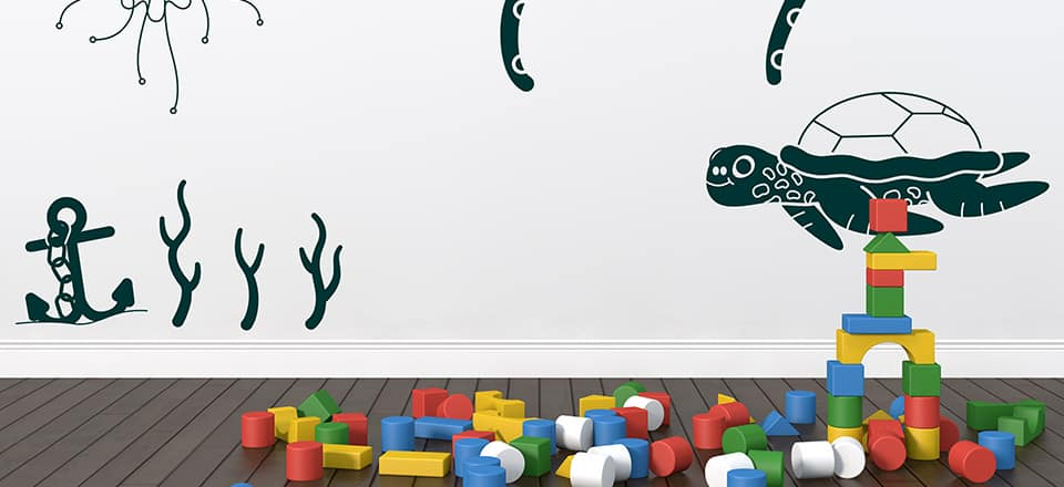 under the sea, free wall decals, art for a child's bedroom