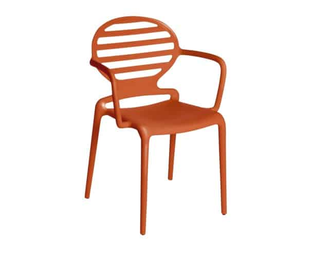 orange airmchair