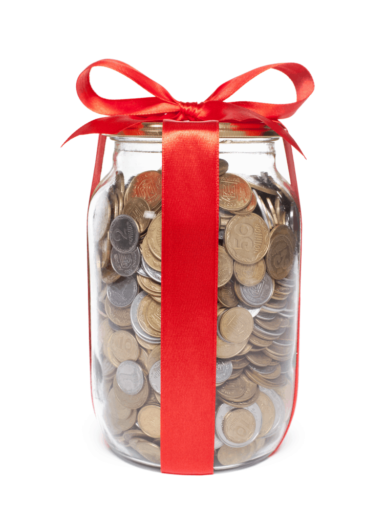 money jar red, invest for my family