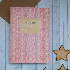 notebook pink, stylish and practical home office