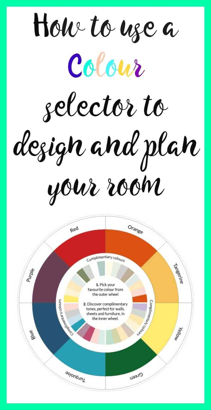Using a colour wheel to plan your room - a beautiful space