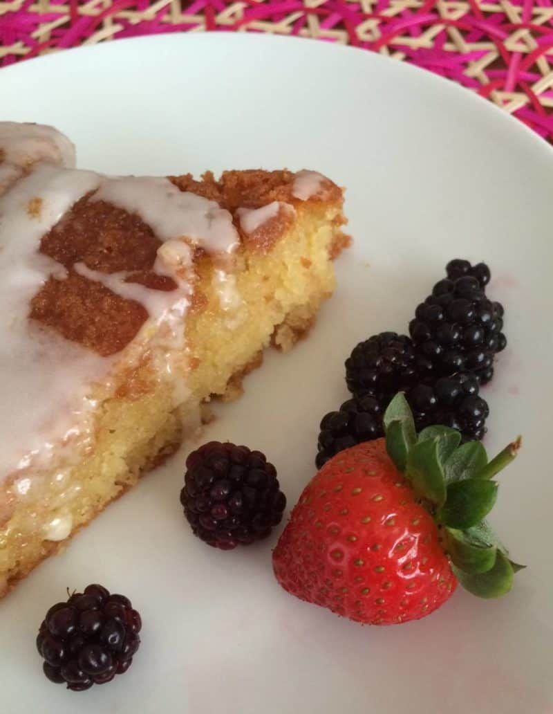simple lemon drizzle cake