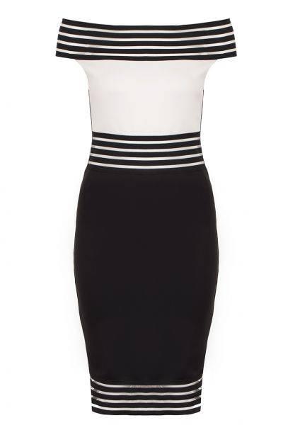 stripy bardot