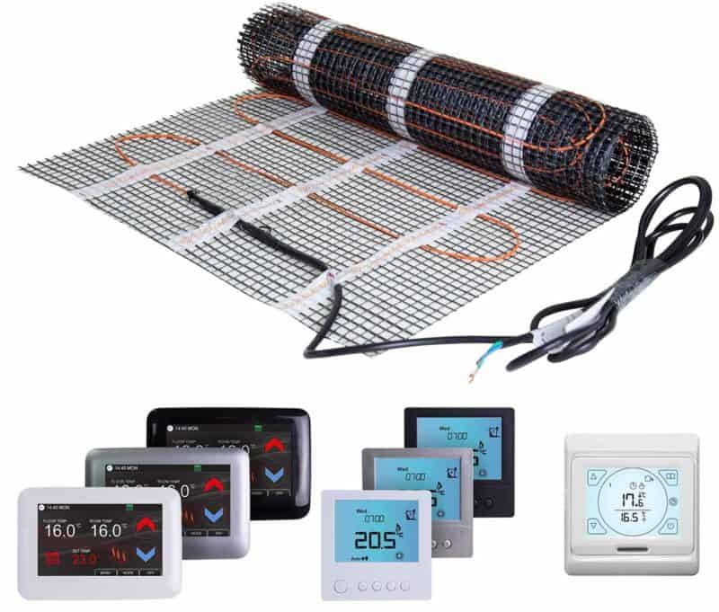 Electric underfloor heating for bathrooms