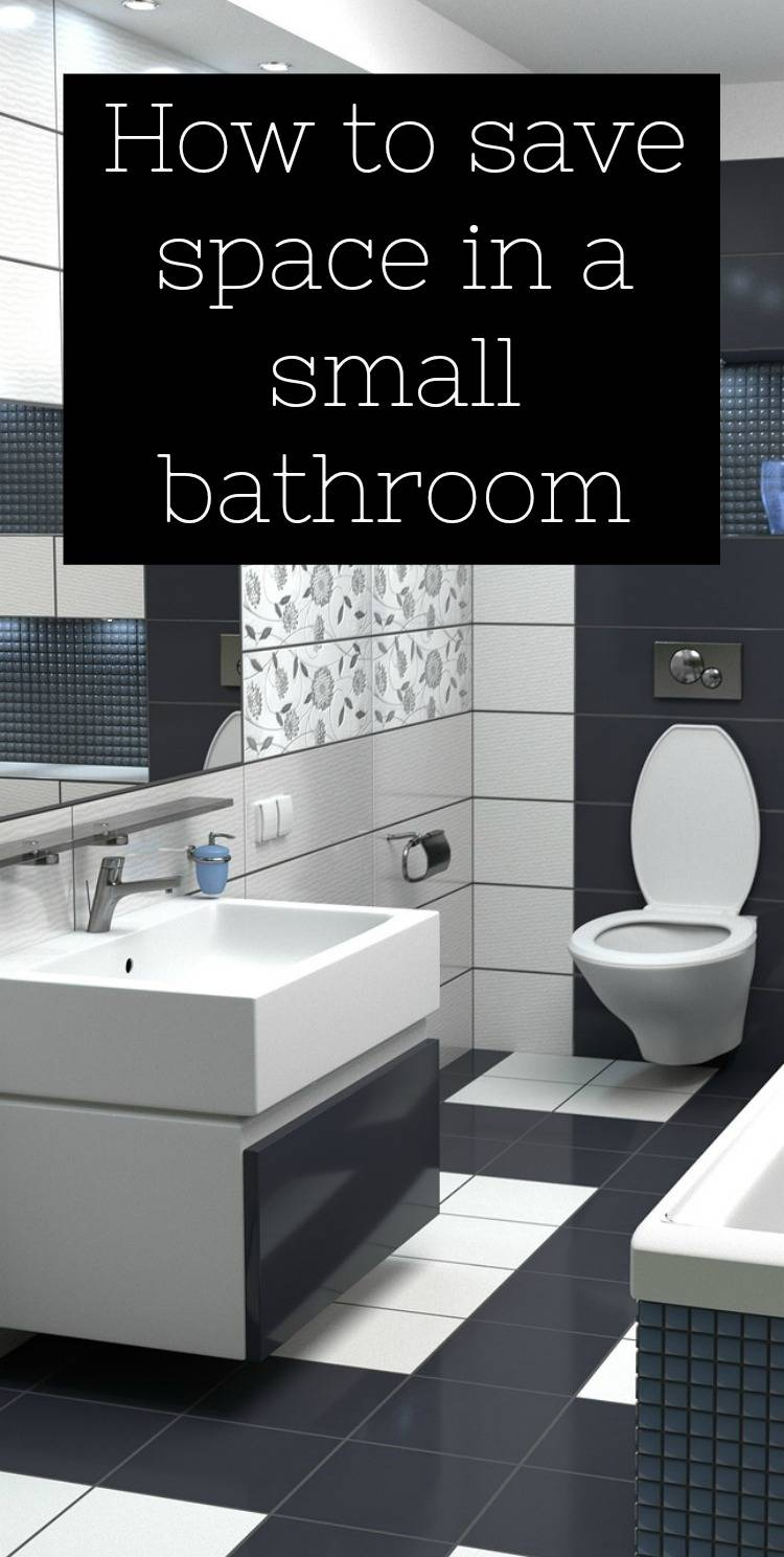 save space in a small bathroom