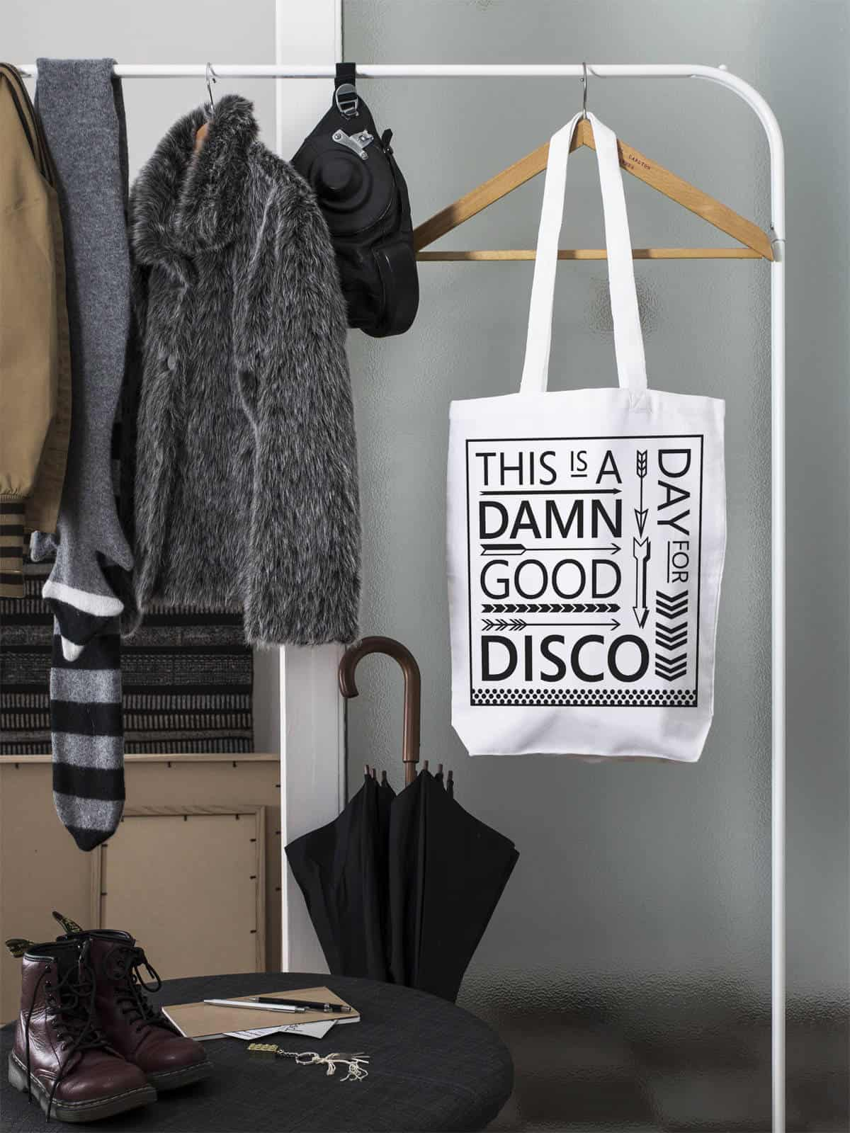 Win a 'This is a Damn Good Day for a Disco' tote bag