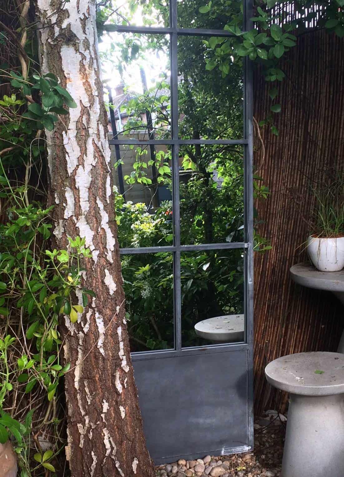 A beautiful garden mirror