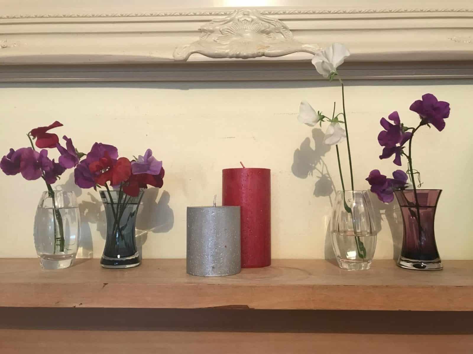 The perfect sweetpea vase