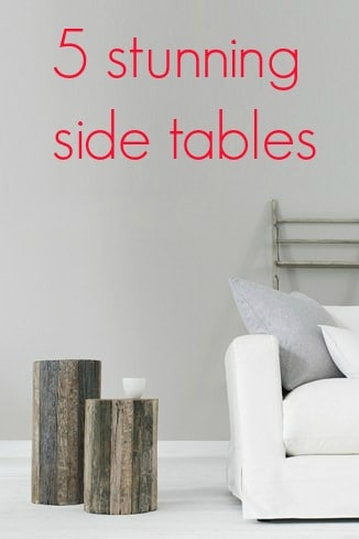 5 stunning side tables