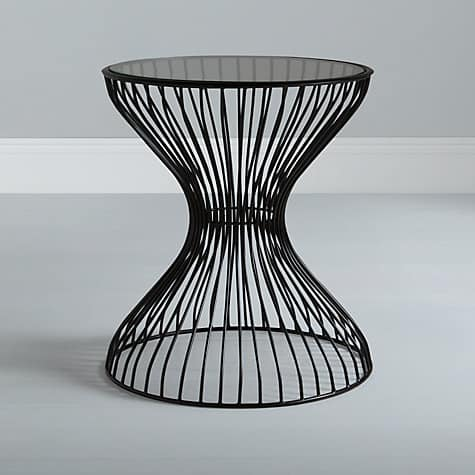 5 stunning side tables a beautiful space wire side table content keyboard keysfo Choice Image