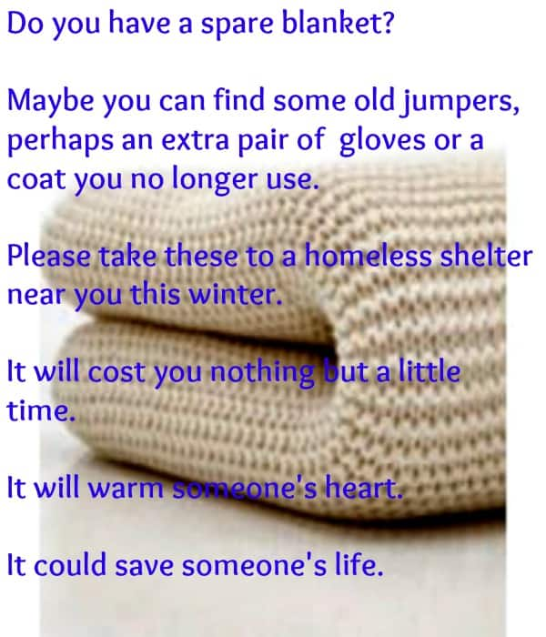 winter warming parcel for homeless people