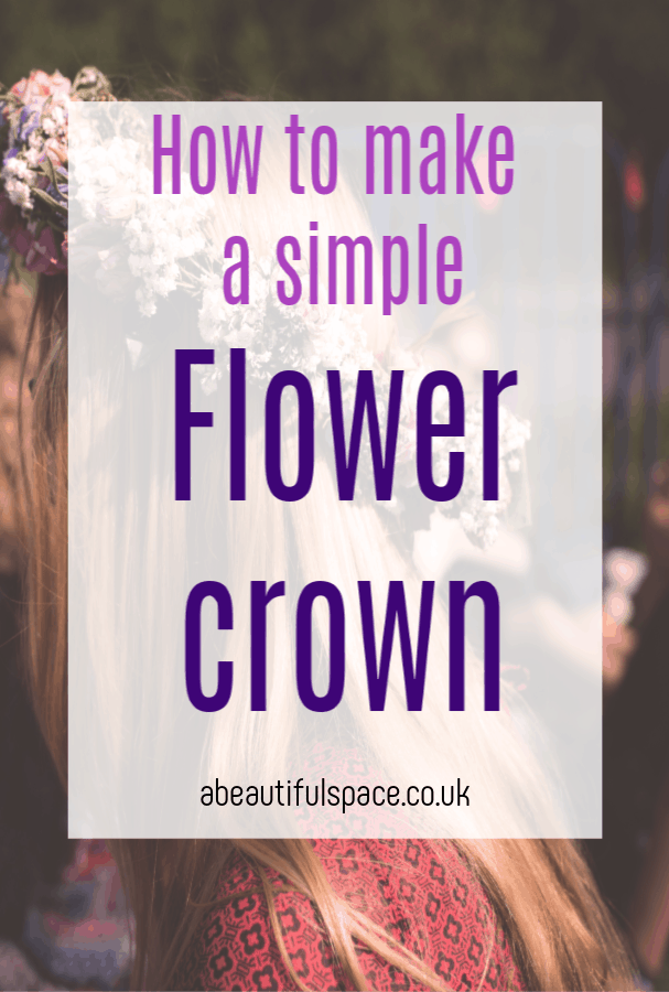 How to make a flower crown, a simple tutorial for a flower crown that owuld work for children and adults #flowercrown #flowercraft #flowercrafts #flowerheadress