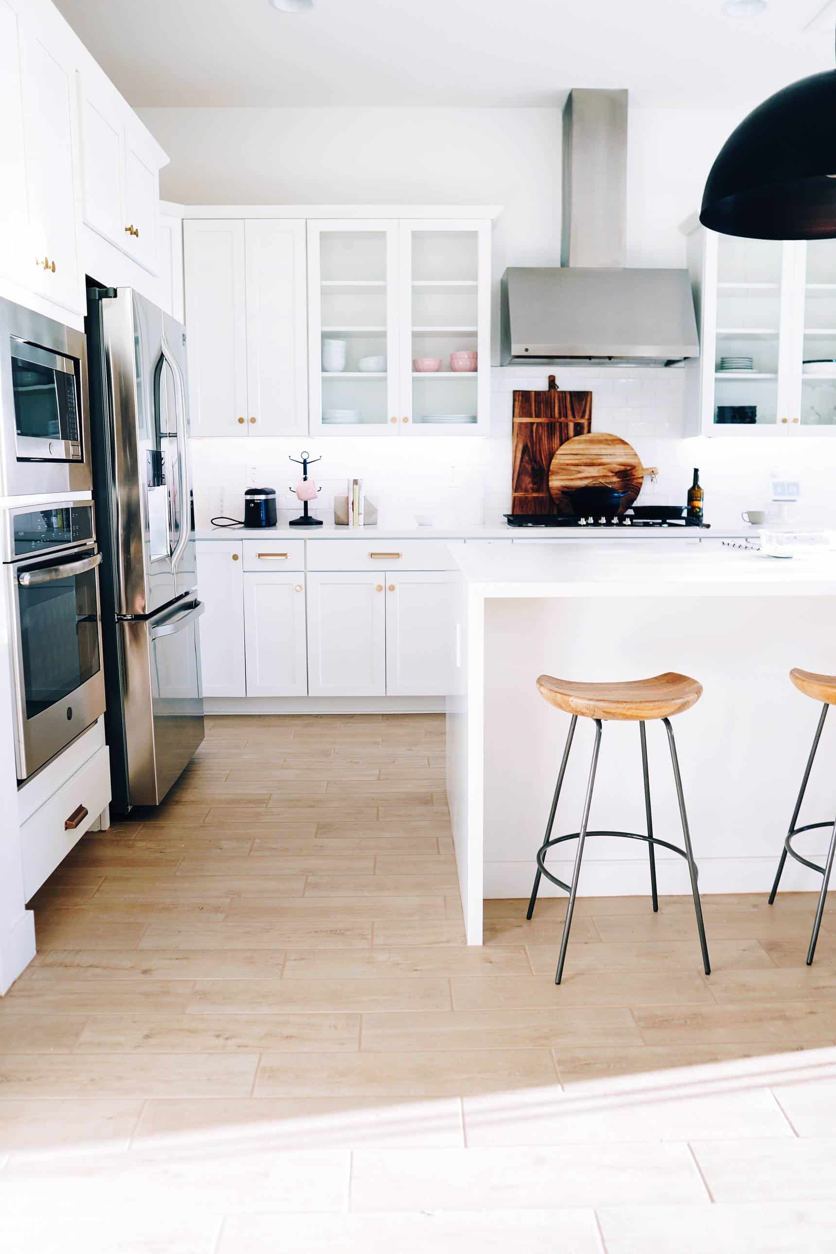 Refresh your kitchen on a budget by installing new flooring