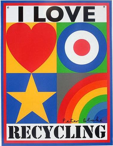 I Love Recycling Peter Blake