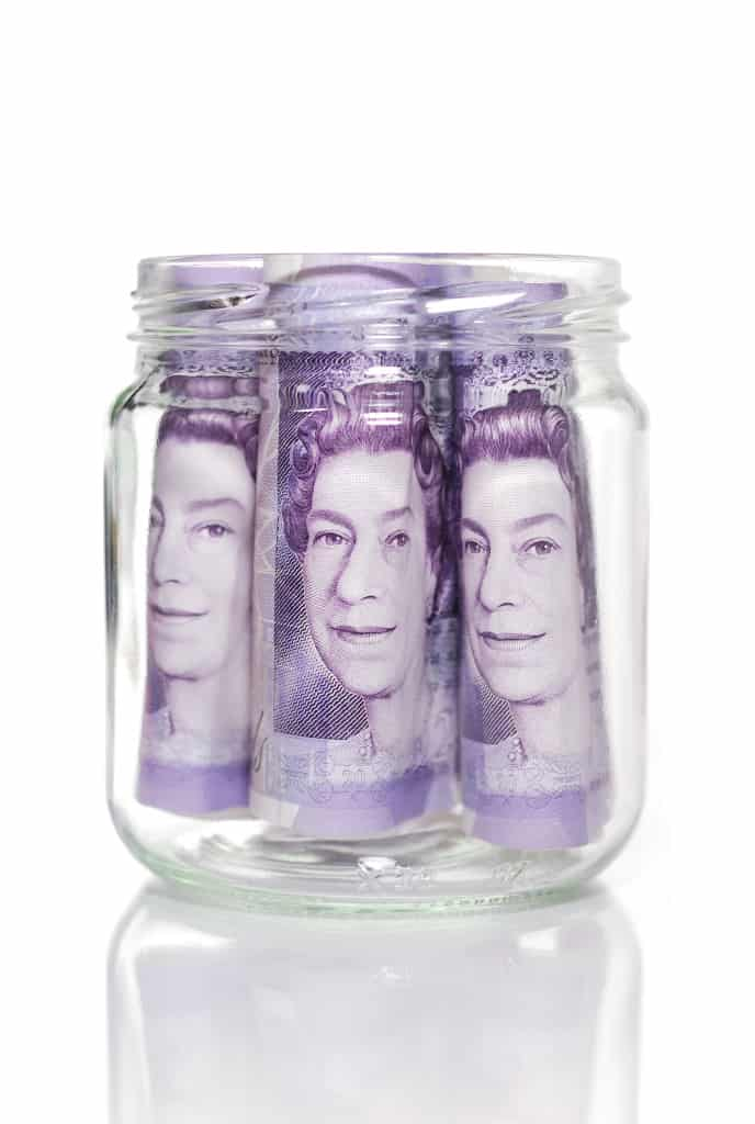 3 £20 notes in a jar, approach to finances, New year, new approach to finances, new approach to finances