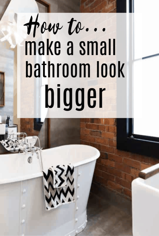 space in a small bathroom