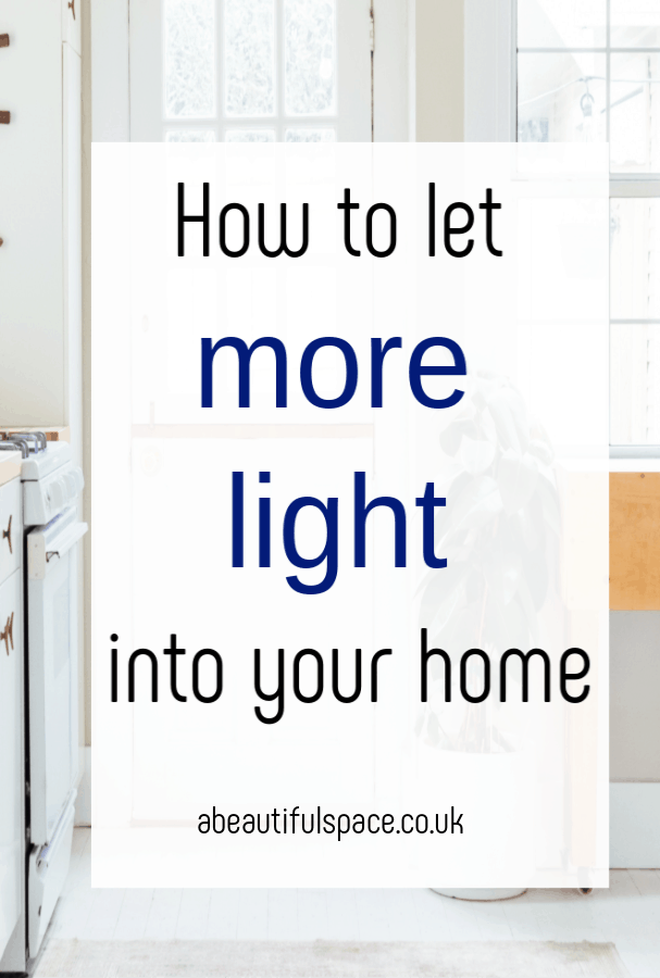 Let light into your home, let more light into your home with these super simple and effective tips #light #naturallight #lightyourhomr #homelighting #lights