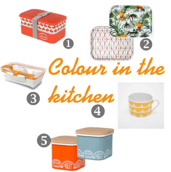 colourful kitchen accessories