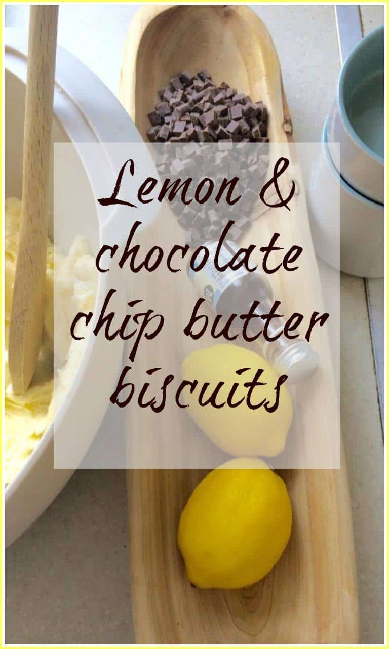 Lemon and chocolate chip butter biscuits