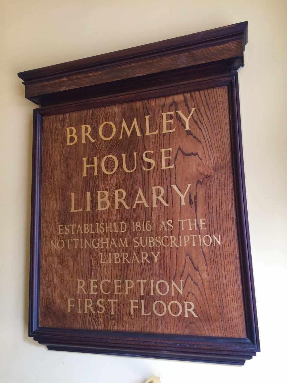 Bromley House library Nottignham