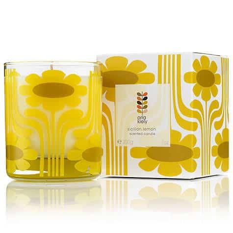 Lemon Orla Kiely candle