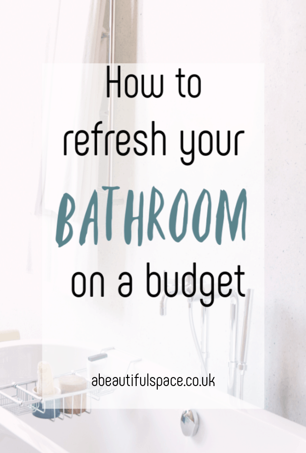 Refresh your bathroom on a budget, top tips on how to refresh your bathroom oan a budget. A thrifty makeover can work just as well as a n expensive remodel come and see these thrifty tips to a fabulous bathroom makeover #bathroommakeover #bathroomrefreh #bathroomdecor