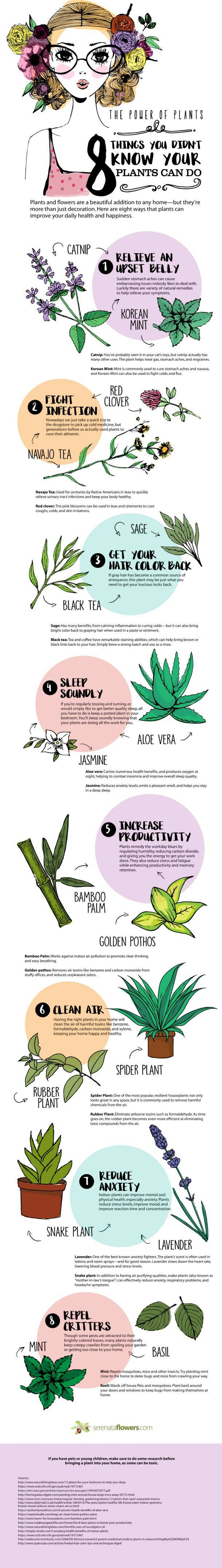 unique powers of plants
