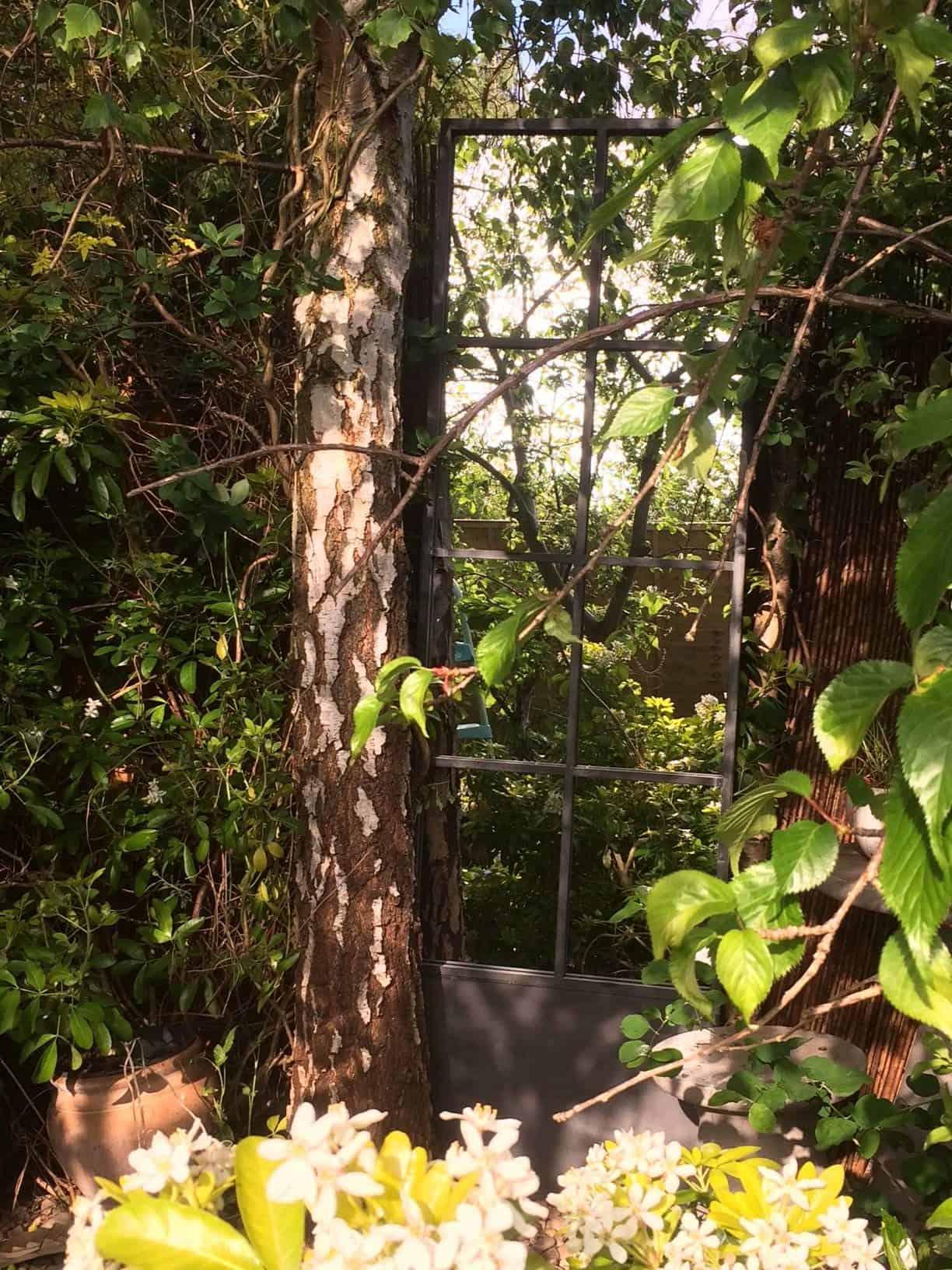 garden mirror, garden door mirror