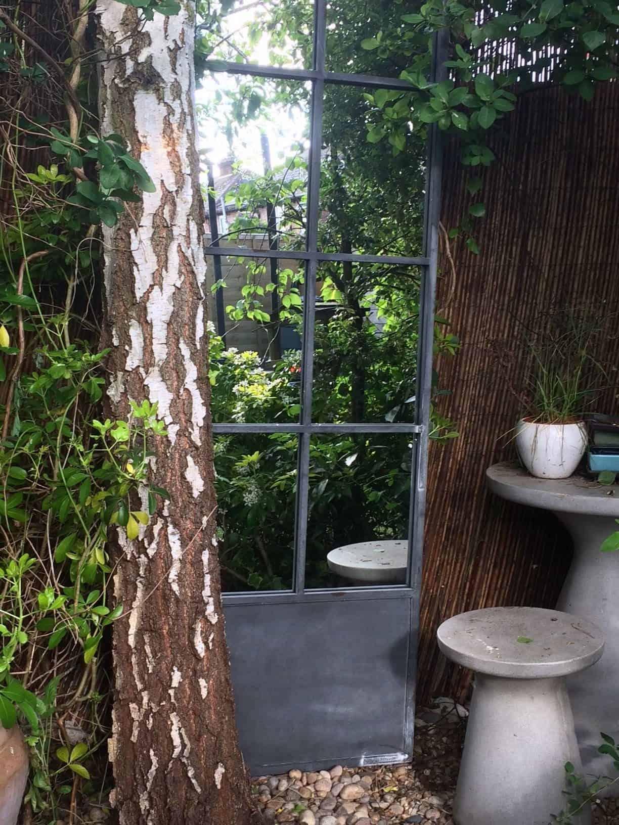 garden mirror door