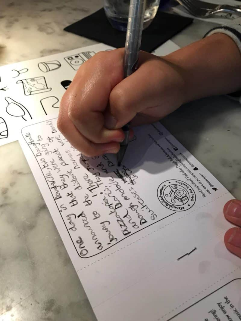 competition for kids at Pizza Express