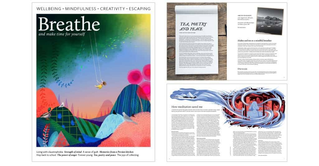 Breathe Magazine, Becky Goddard-Hill, Mindfulness magazine