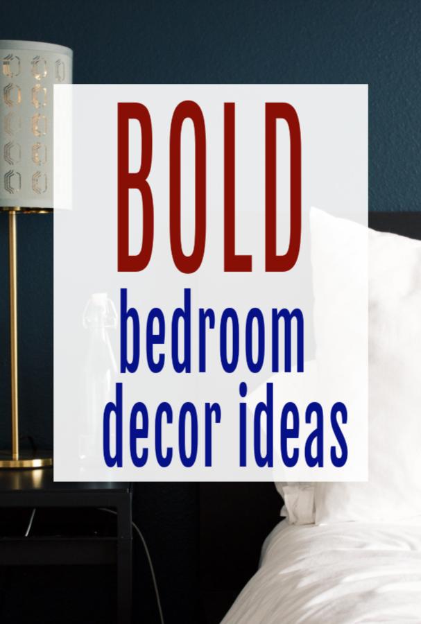 bold bedoom decor