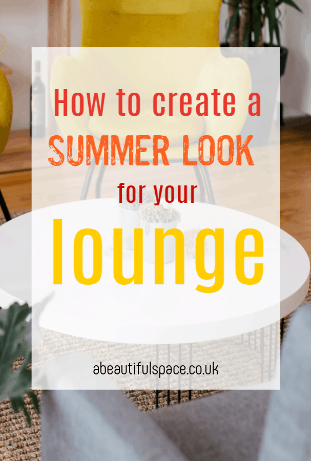 Creating a summer look for your lounge