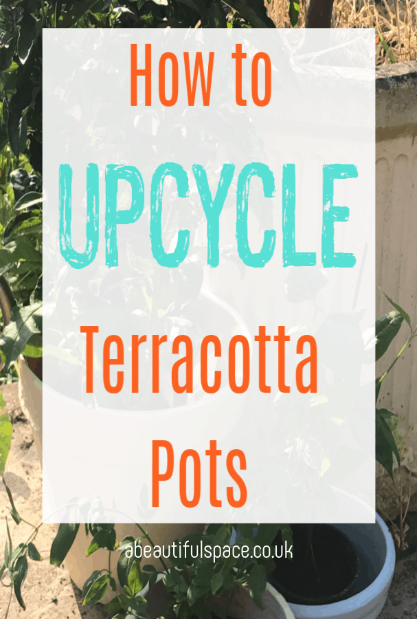 upcycle a terracotta pot
