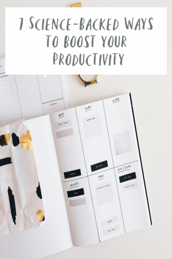 Science-Backed Ways to Boost Productivity