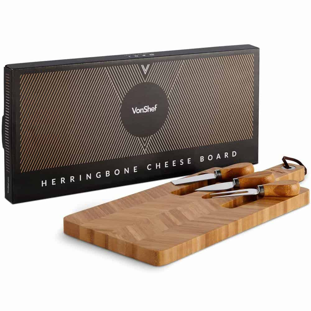 VonShef Herringbone Cheeseboard