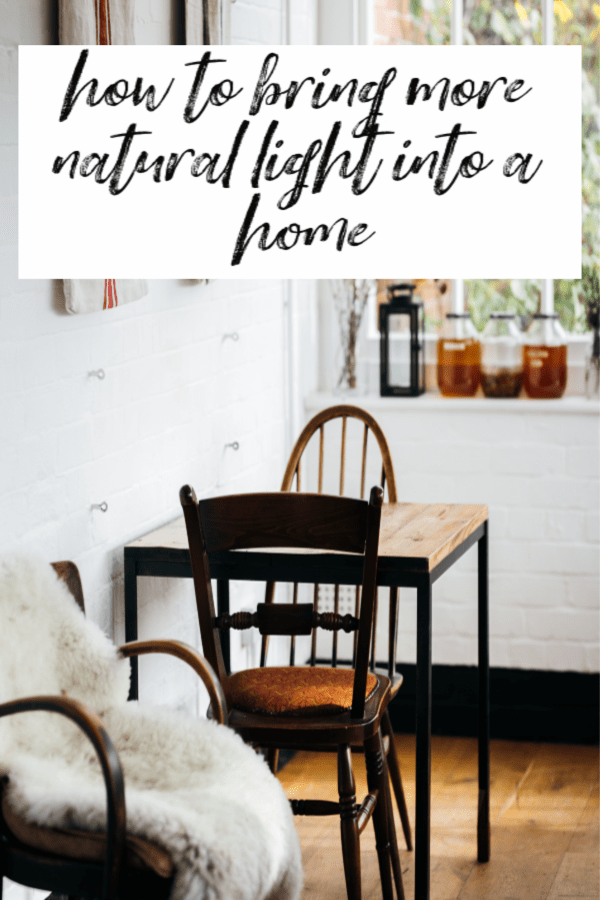 How to bring more natural light into a home