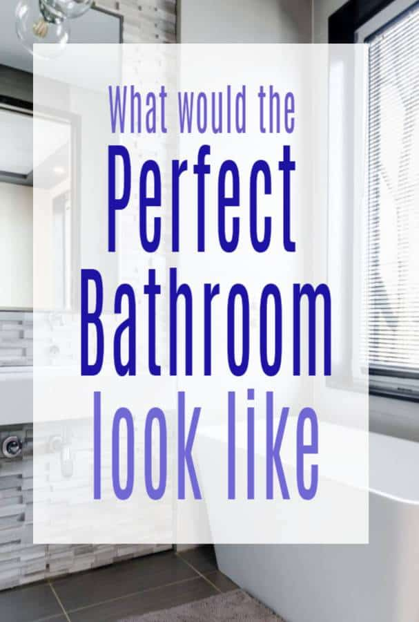 What would the perfect bathroom look like?