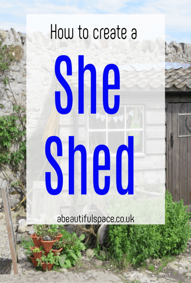 How to create a She Shed, tops tips for converting your gaden shed into a special place just for you #sheshed #gardenshed #shedconversion #shedmakeover