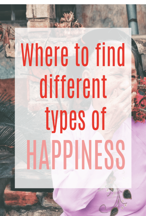 Where to find different kinds of happiness