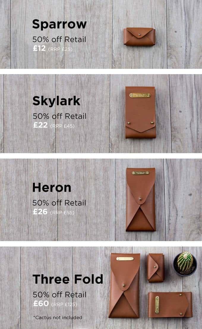 Minimalist storage pouches