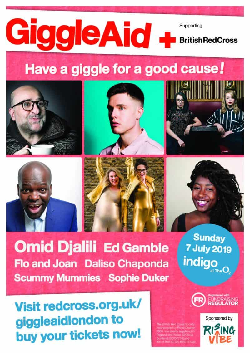 Win one of 3 pairs of tickets to Giggle Aid at the O2