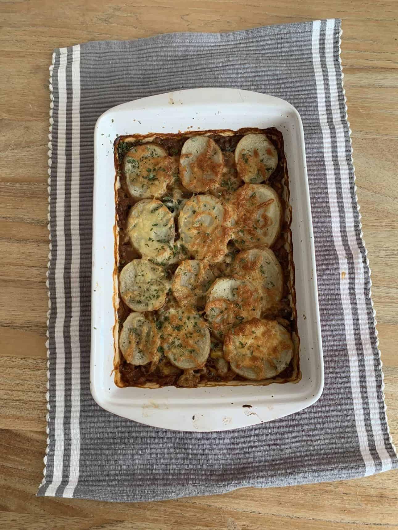 easy lentil and vegetable hotpot
