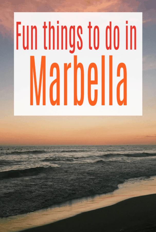 Fun Things to do in Marbella