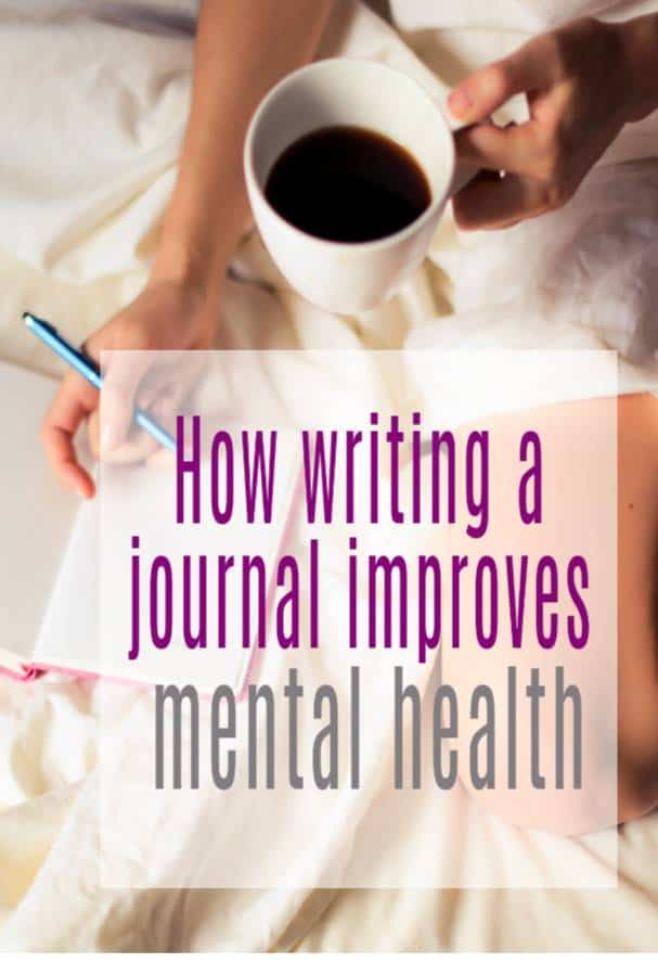 how writing a journal improves mental health