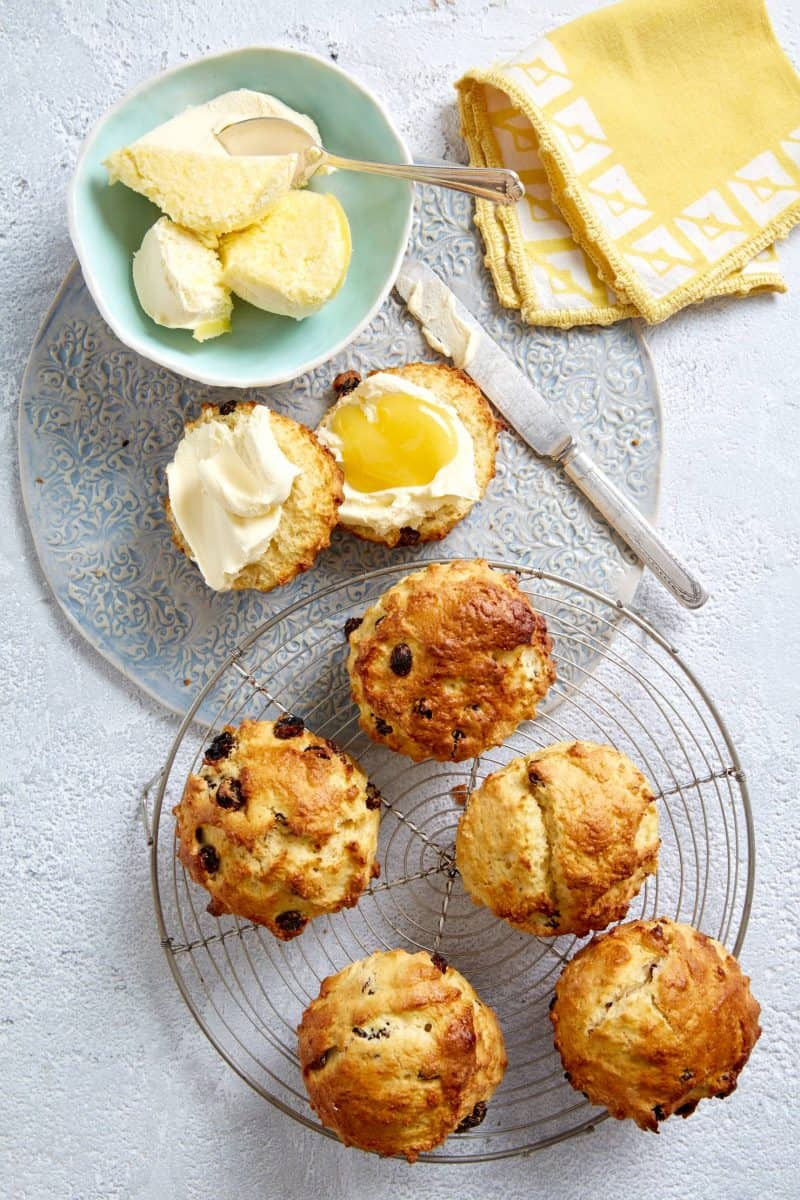 Raisin and lemon scones