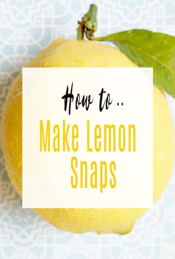 lemon snaps recipe